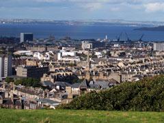 Edinburgh skyline, along the Firth of Forth